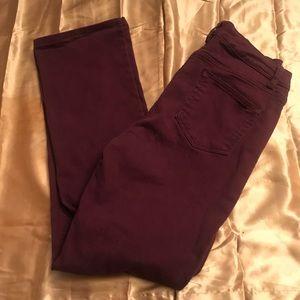 Size 8 Denim & Company Burgundy Women's Jeans